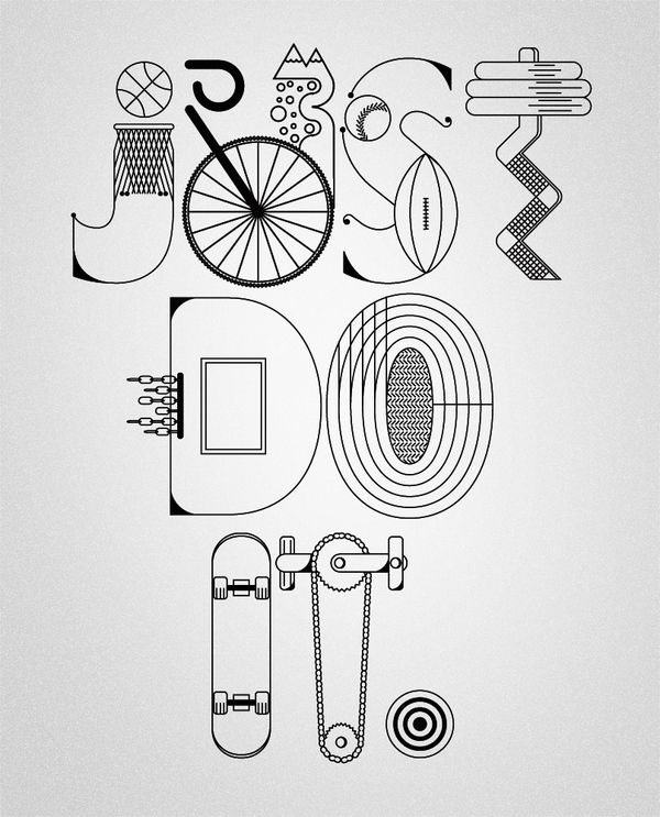 NIKE x Type illustrations 2010 by YLLV . Karol Gadzala, via Behance