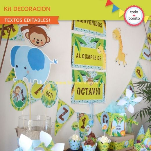 Selva: decoración de fiesta para imprimir