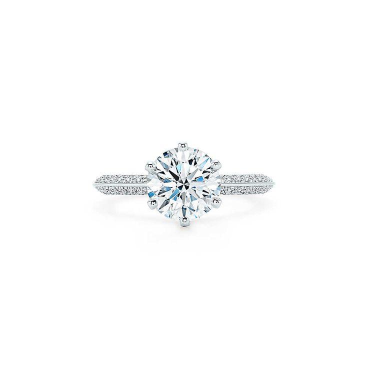 Pavé Tiffany® Setting Engagement Rings | Tiffany & Co.