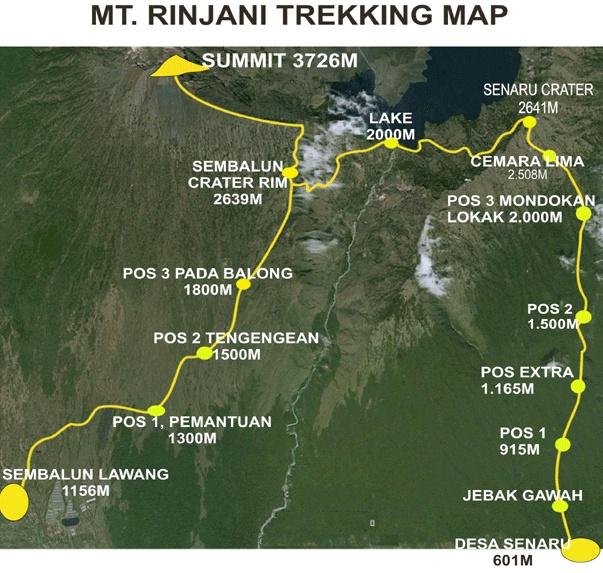 Mount Rinjani Trekking Map http://lombok-eccotour.com/photos/rinjani-trekking-map.gif