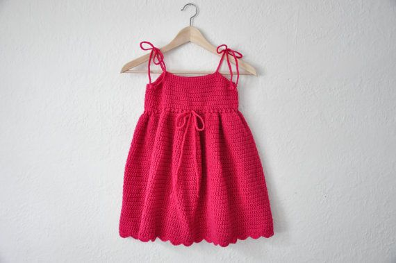 Girls Sun Dress Pink Summer Dress Pink by courtneyannabanana, $45.00