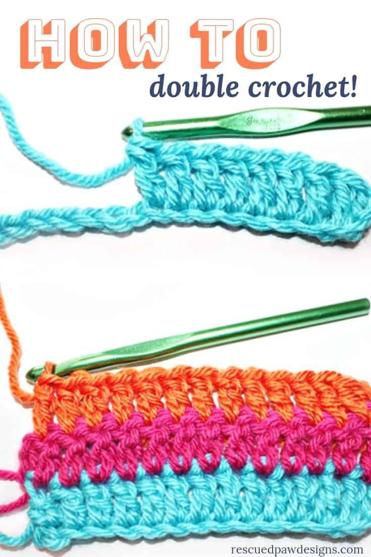 How To Double Crochet For A Beginner Easy Crochet Crochet In 2020 Double Crochet Stitch Crochet Stitches For Beginners Beginner Crochet Tutorial