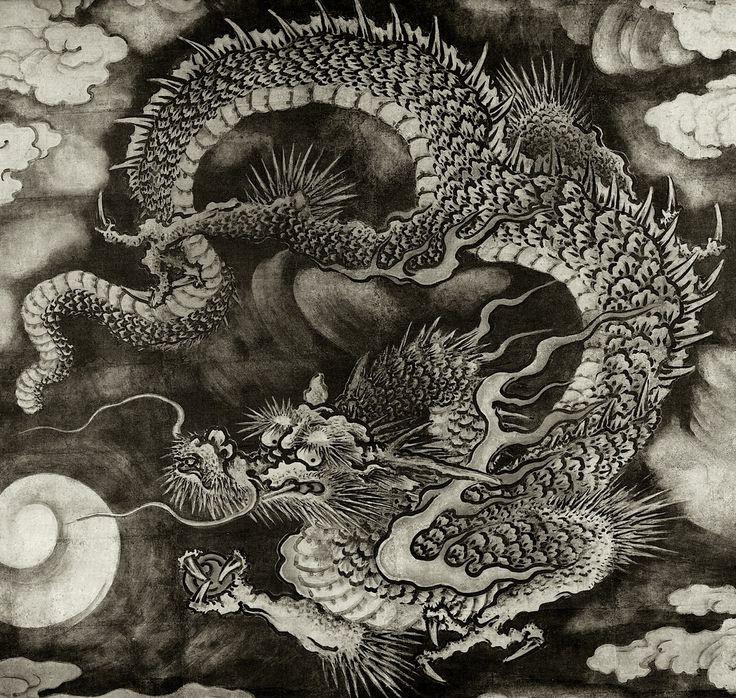Maruyama Ōkyo (円山 応挙), Dragon Amid Clouds (ドラゴン雲なか), Kyoto, c. 1794.