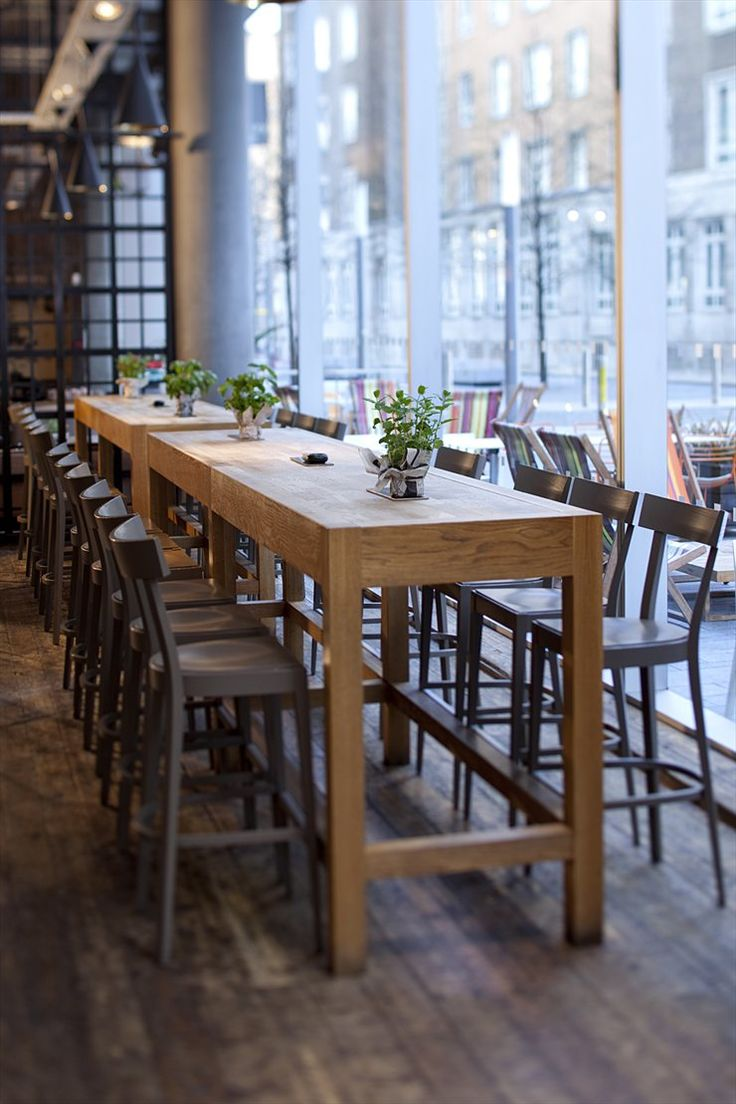 Tall Long Family Style Seating Could Be Cool In A Bar Area The Communal TableBar TablesDining