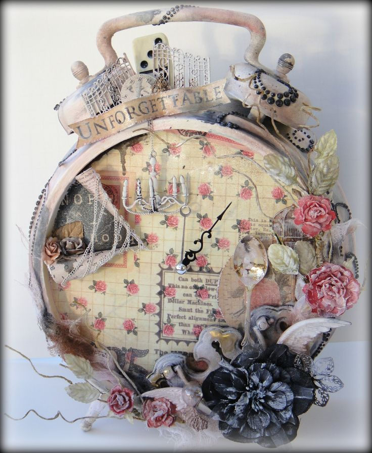 Prima Altered Clock - Scrapbook.com