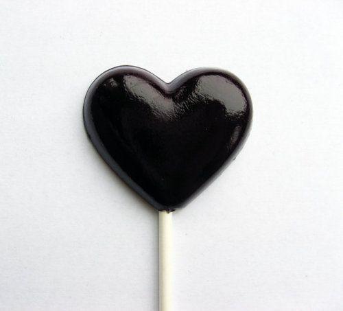 /Black heart lollipops/