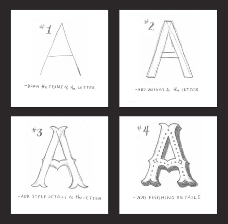 Best  How To Draw Letters Ideas On   How To Draw