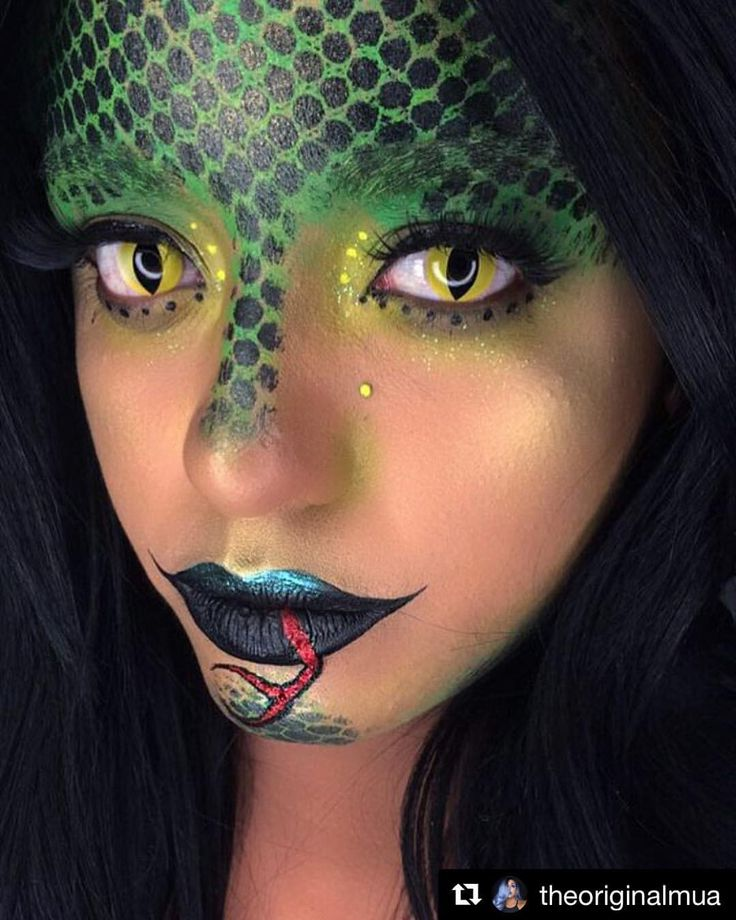 "1,558 Likes, 3 Comments - Colored Contacts Online Store (@ohmykitty4u) on Instagram: "" Snake inspired makeup by @theoriginalmua with [Cat Eyes] contacts // Available in prescription …"""