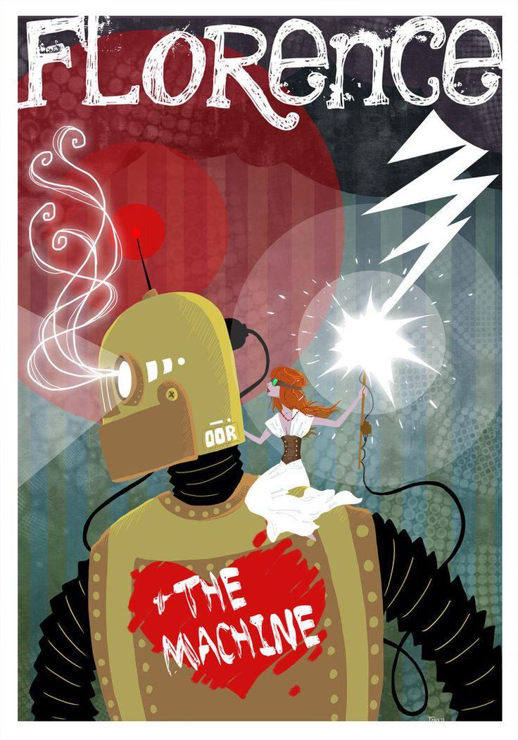 Florence and the Giant Robot by GoatSocks | #florence+themachine #music #música #illustration #ilustração