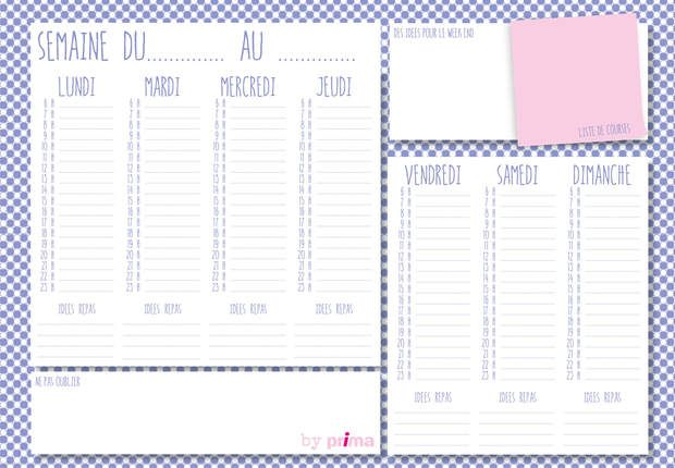 Gratuit : agenda à imprimer, Imprimezvotre agenda hebdomadairepersonnalisé et organiser facilement votre semaine !