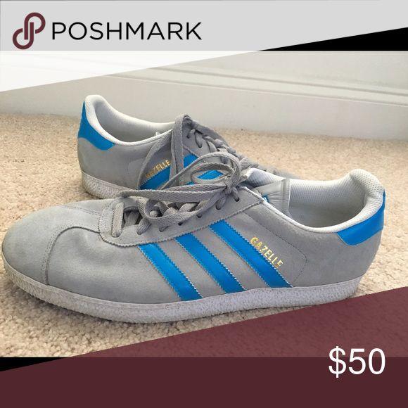 Men's Adidas Gazelles Grey blue Adidias Gazelles! Men's size 13. Adidas Shoes Sneakers