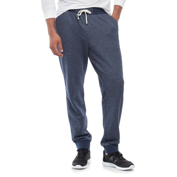Big & Tall SONOMA Goods for Life™ Regular-Fit Supersoft Jogger Pants, Men's, Size: L Tall, Dark Blue