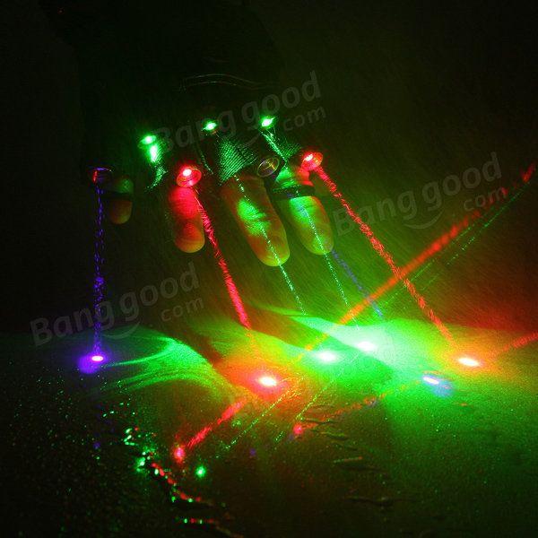 3 Green+2 Red+2 Violet Laser Glove Stage Lighting DJ Dancer Show For Right Hand Sale - Banggood.com