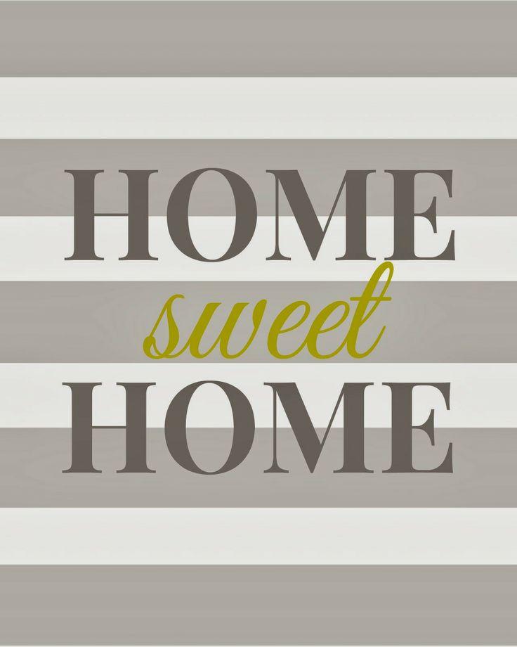 Living Room Art Printables: Home Sweet Home - Free Printable