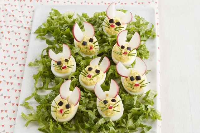 Just when you thought that every possible twist on devilled eggs had been explored, here are the cutest and most doable little 'devils'…we mean bunnies!  These Easy Bunny Devilled Eggs are as much fun to make as they are to serve.