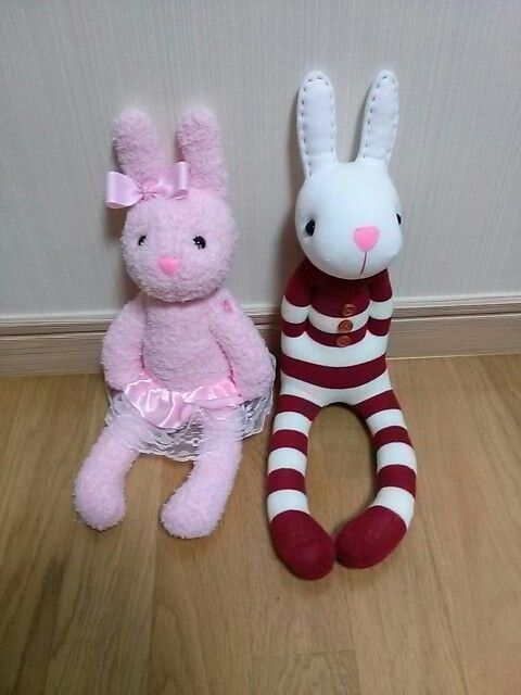 rabbit socks doll