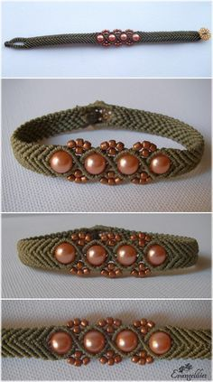 As in every macrame bracelet, i love to try different color combinations in beads and thread. As per usual, video tutorial by the wonderful 'Macrame School' here: https://www.youtube.com/watch?v=agIDOhzCYjU