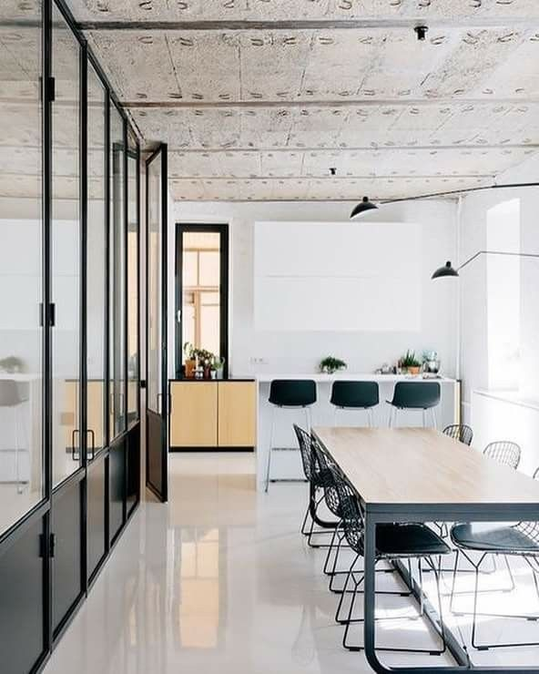 Pin By Kaori Nagata On Love It Office Interior Design Industrial Office Design Home