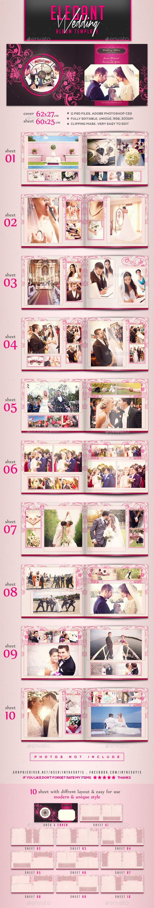 The 88 best Wedding Photo Album Template images on Pinterest | Photo ...