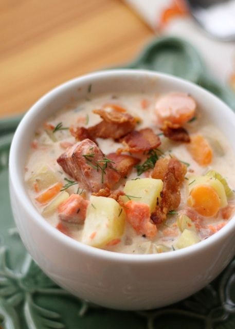 Smoked Salmon Chowder by Barefeet In The Kitchen