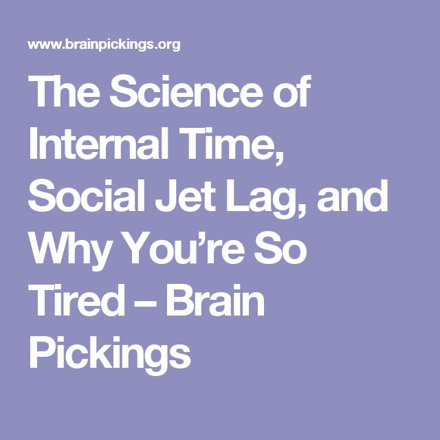 The Science of Internal Time, Social Jet Lag, and Why You're So Tired – Brain Pickings