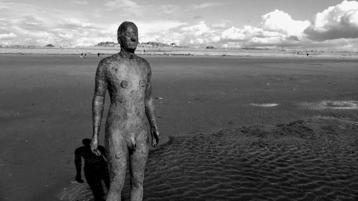 The iron men on Crosby Beach, Merseyside. A must visit. Read more about it on the blog