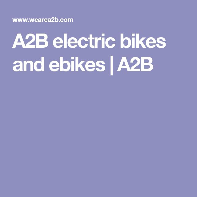 A2B electric bikes and ebikes | A2B