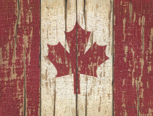 Distressed Canadian flag by Linda Spivey