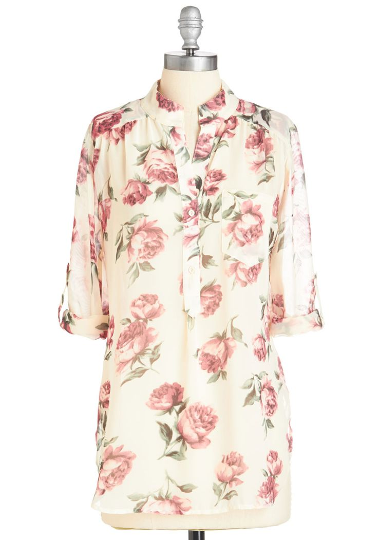 And So it Rose Top, #ModCloth
