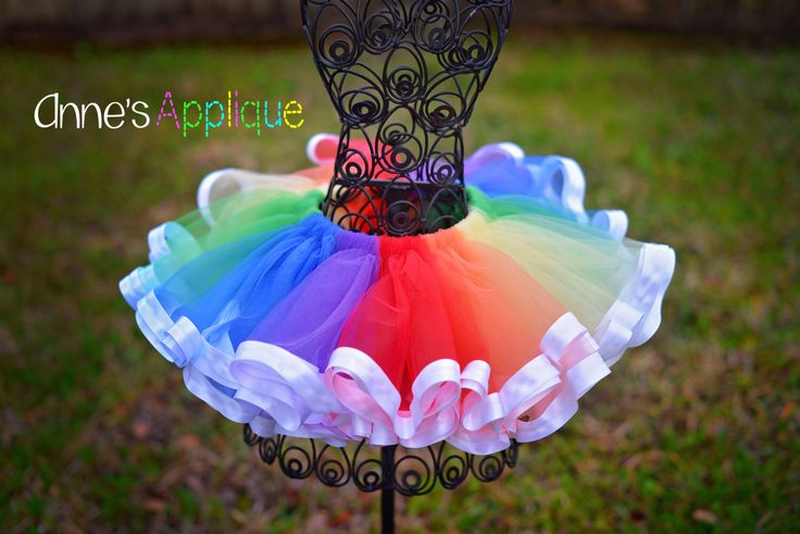 Rainbow Tulle Tutu 6m-5t, Pastel or Vivid by AnnesApplique on Etsy https://www.etsy.com/listing/225615604/rainbow-tulle-tutu-6m-5t-pastel-or-vivid