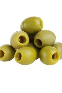 <center>Handful of green olives: 70 calories