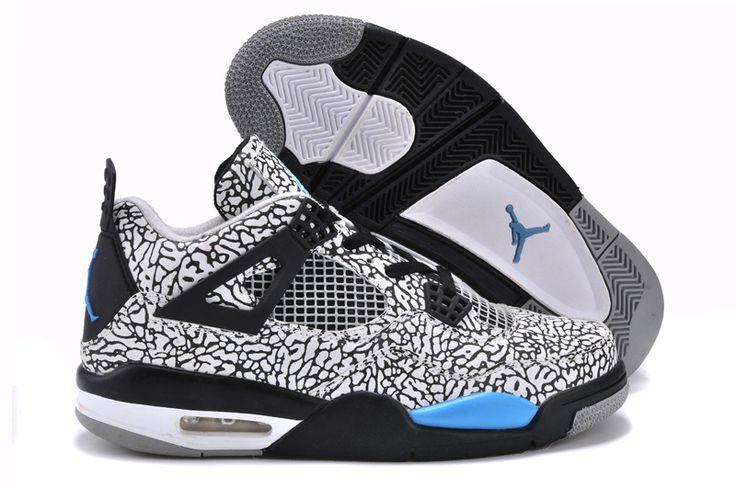 Air Jordan 4 (IV) Retro Leopard Grey Black Basketball Shoes