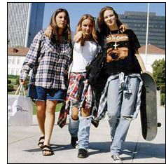 Grunge fashion is a fashion style of the 90s that combines elements of punk mixed with inexpensive working class fabrics.