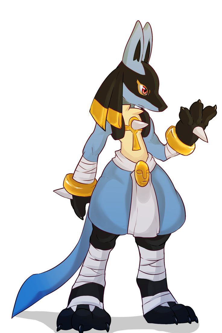 Egyptian Lucario  i loved this guy so much like, he was my pokebae