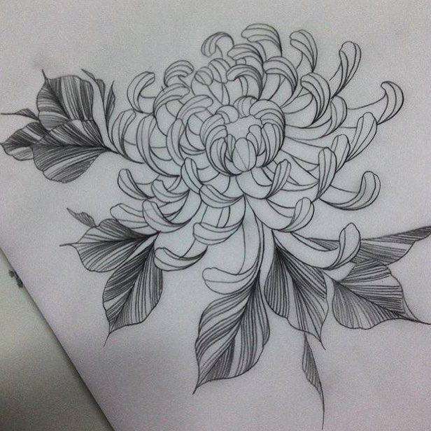Black Flower Watercolor Art By Tae Lee: 25+ Best Ideas About Chrysanthemum Tattoo On Pinterest