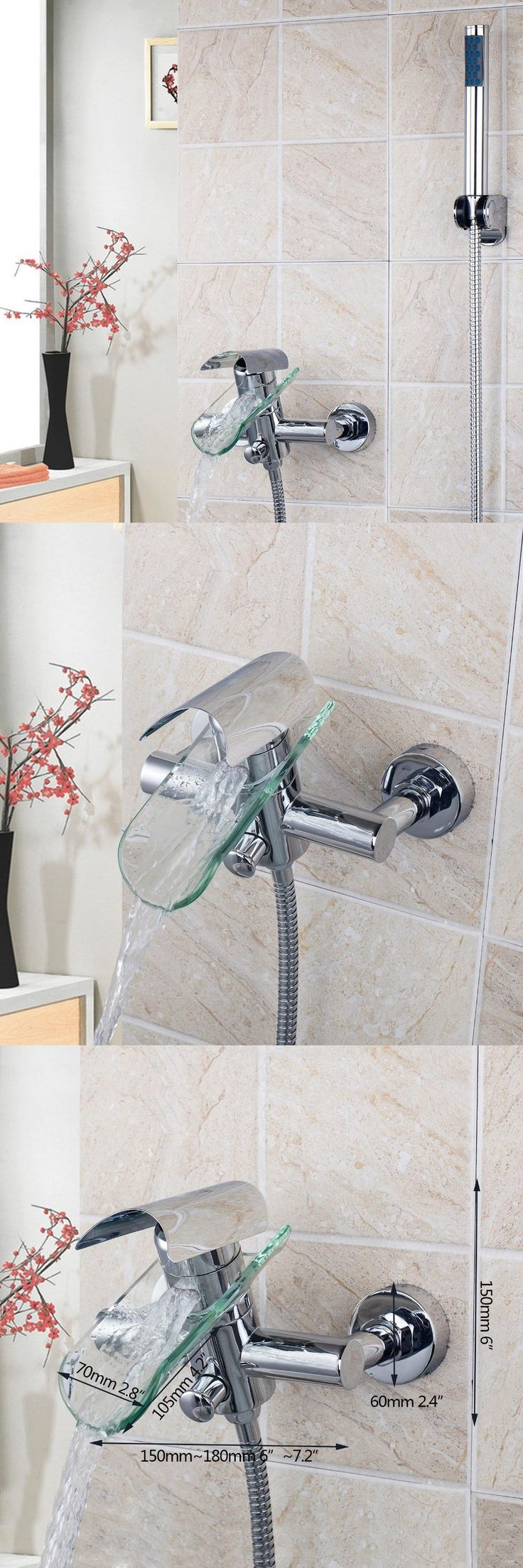[Visit to Buy] Bathroom Shower Faucet Bath Faucet Mixer Tap With Hand Shower Head Shower Faucets Set  #Advertisement