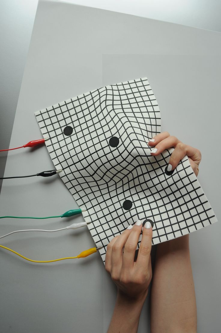 Liquid MIDI is an experimental textile interface for sonic interactions, exploring aesthetics and morphology in contemporary design. The technology is screen printed directly onto a textile surface, then through an Arduino micro controller communicates wi… Más