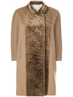contrast panel coat