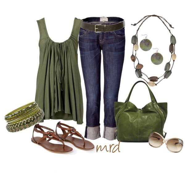 Green, green, green! <3Olive Green, Army Green, Summer Casual, Summer Outfit, Casual Green, Weekend Wear, Summer Fun, Casual Outfits, Olive Juice