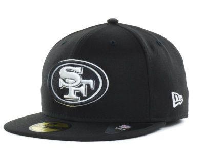 San Francisco 49ers New Era NFL Black And White 59FIFTY Cap