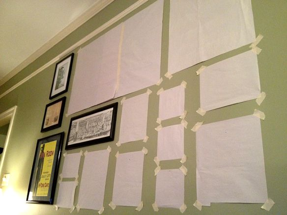 How to layout photo collage wall.