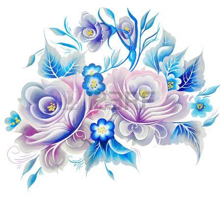 roos: Bloemen steeg een beroerte schilderij