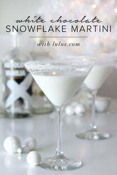 White Chocolate Snowflake Martini at http://LuLus.com!
