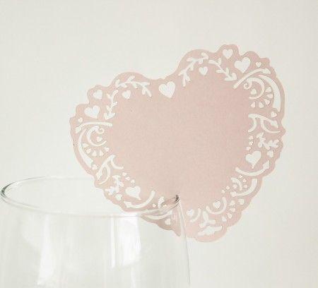 Bordkort Hjerte Romantikk Rosa
