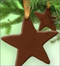 Applesauce-Cinnamon ornaments: We made these when I was little, and they smelled awesome