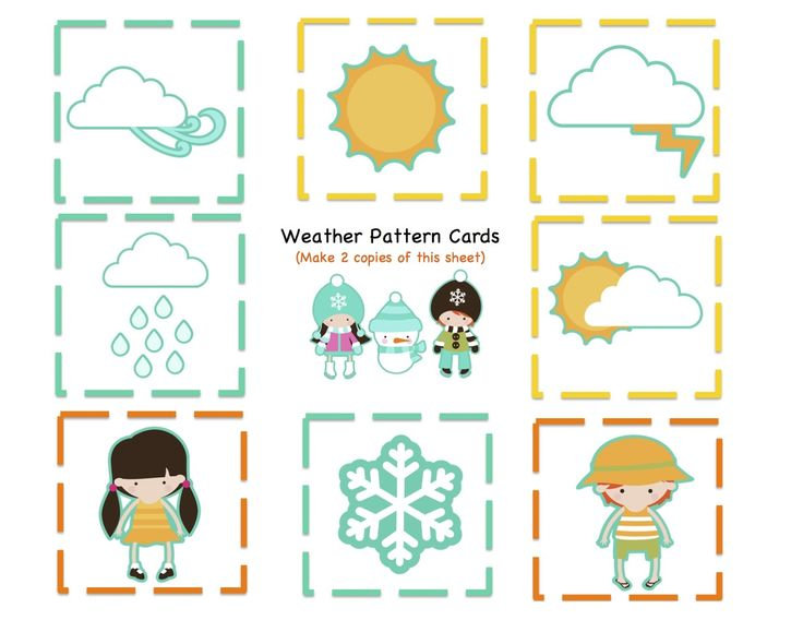* Weather: 9 Pattern cards