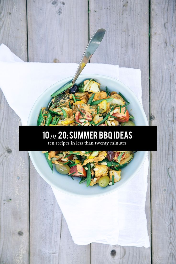 10 recipes in 20 minutes: Summer Grill Recipes #theeverygirl
