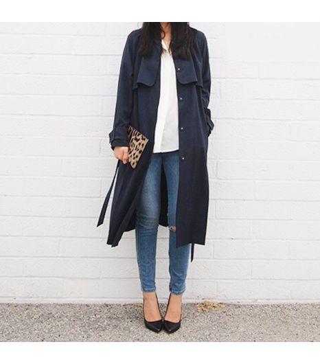 Andyheart is wearing: H&M coat, Zara heels, Everlane shirt, Ksubi jeans, Jerome Dreyfuss bag.