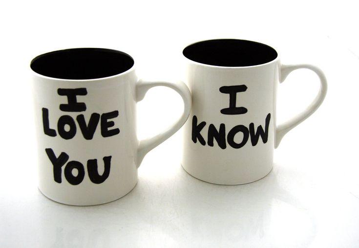 Star Wars Han Solo and Leia Love Mugs.