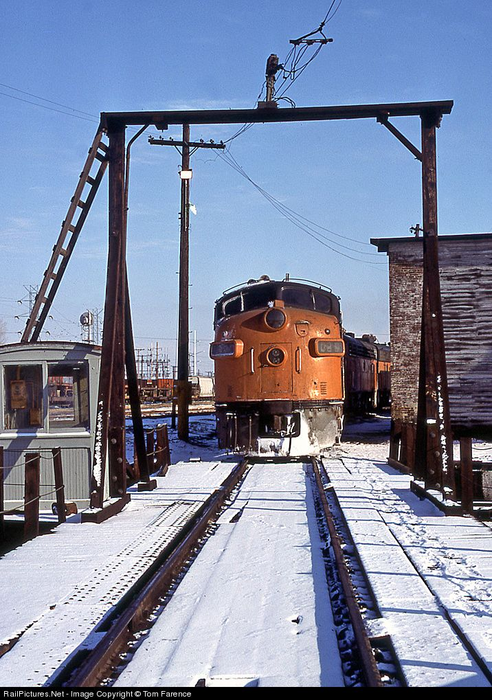 RailPictures.Net Photo: MILW 102C Milwaukee Road EMD FP7 at Portage, Wisconsin by Tom Farence